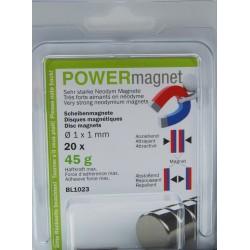 Blister Magnet Ø 1 x 1 mm Inhalt 20 Stück
