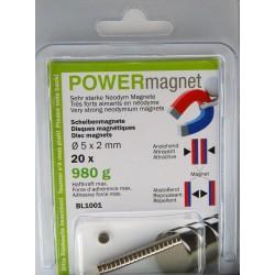 Blister Magnet Ø 5 x 2 mm Inhalt 20 Stück