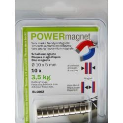 Blister Magnet Ø 10 x 5 mm Inhalt 10 Stück