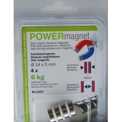 Blister Magnet Ø 14 x 5 mm Inhalt 5 Stück