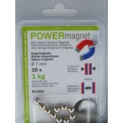 Blister Magnet Kugel 7 mm Inhalt 10 Stück
